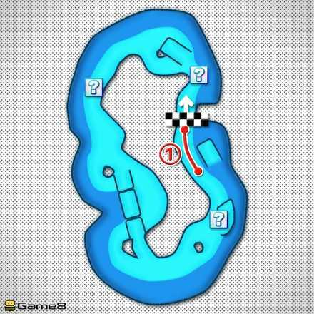 Koopa Troopa Beach T Shortcut Map