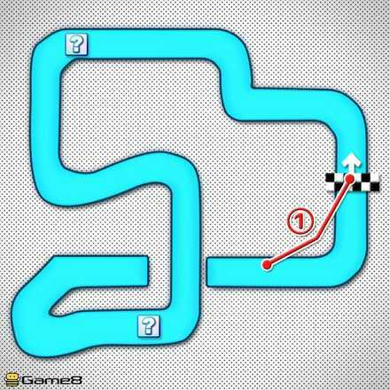 Mario Circuit 2 Shortcut Map