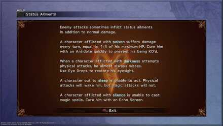 Status Ailments Ffx beginner tips and guides