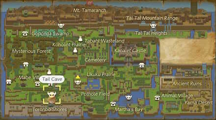 Level 1 Tail Cave Walkthrough Zelda Link S Awakening Game8