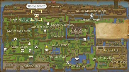 Bottle Grotto Map