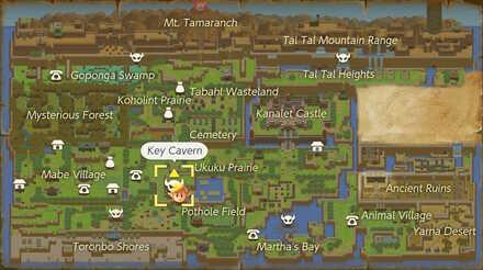 Key Cavern Map