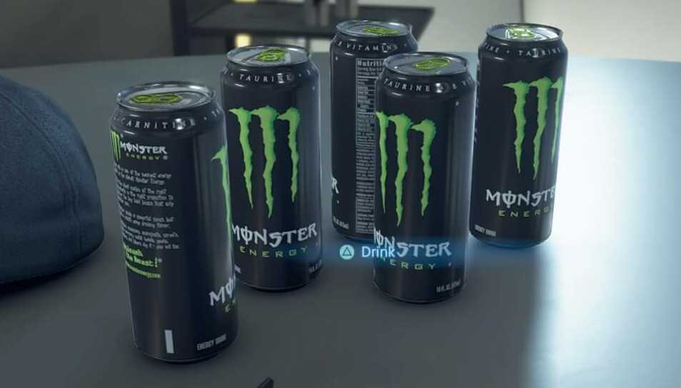 Death Stranding Drinking Monster Energy Drink Effect