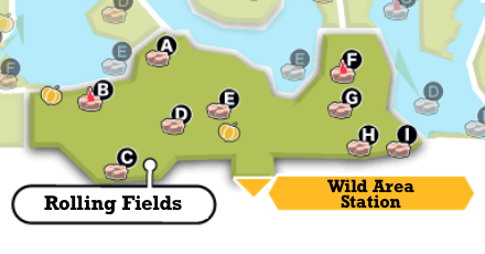 Rolling Fields Map and Obtainable Pokemon | Pokemon Sword ...