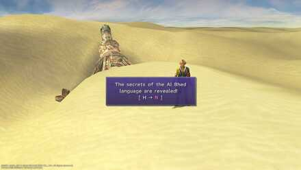FFX Final Fantasy X Bikanel Island Obtainable Item Al Bhed Primer XIV