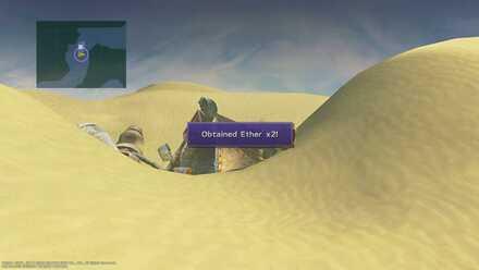 FFX Final Fantasy X Obtainable Items Bikanel Island Ether x2