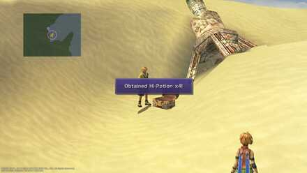 FFX Final Fantasy X Obtainable Items Bikanel Island Hi-Potion x4