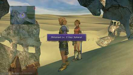 FFX Final Fantasy X Obtainable Items Bikanel Island Lv.2 Key Sphere