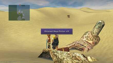FFX Final Fantasy X Obtainable Items Bikanel Island Mega-Potion x3