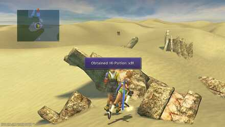FFX Final Fantasy X Obtainable Items Bikanel Island Hi-Potion x8