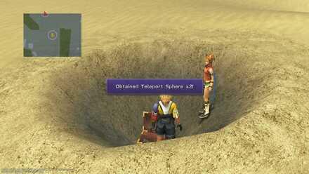 FFX Final Fantasy X Obtainable Items Bikanel Island Teleport-Sphere x2 x2