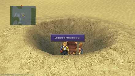 FFX Final Fantasy X Obtainable Items Bikanel Island Megalixir x3
