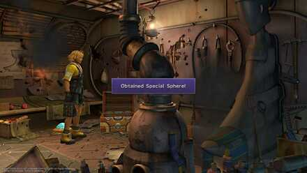 FFX Final Fantasy X Obtainable Items in Bikanel Island Special Sphere.