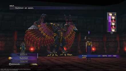 FFX Aeon Battle Via Purifico Spathi Bahamut