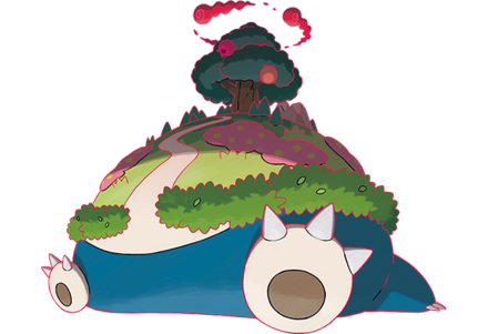 In-game G-Max Snorlax