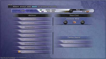 FFX Customizing for Monster Arena