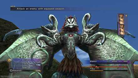 FFX Dark Valefor Besaid Village Superboss Battle