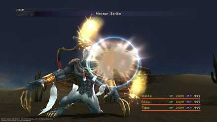 FFX Dark Ifrit Meteor Strike
