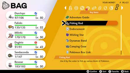 How to Fish in Pokemon Sword and Shield - Fishing Rod