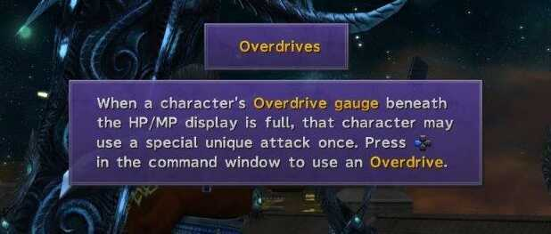 FFX How to use Overdrives