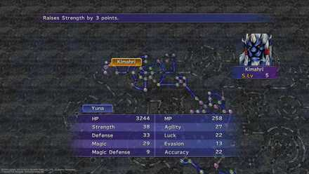 FFX Sphere Grid Display status