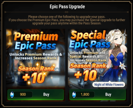 Epic Seven Epic Pass Upgrade