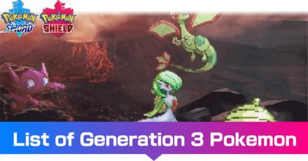 Generation 3 Pokemon