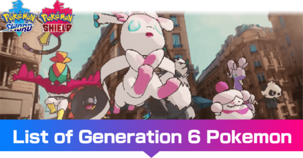 Generation 6 Pokemon