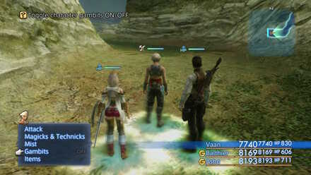 Overworld Menu OFF FF12 Gambits