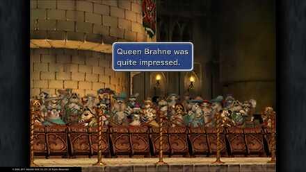 100 nobles were impressed Queen Brahne was quite impressed