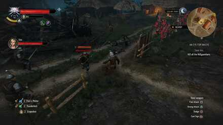 Saving Ves from Nilfgaardian soldiers