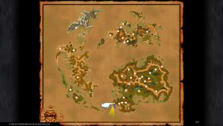 FF9 Between Mountains Map