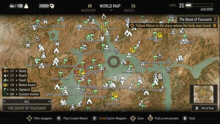 Witcher 3 Map Toussaint