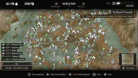 Witcher 3 Map Velen