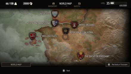 Witcher 3 World Map Toussaint