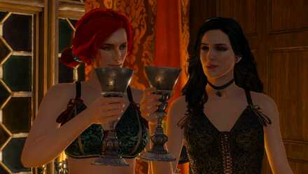 Triss and Yennefer leave Geralt