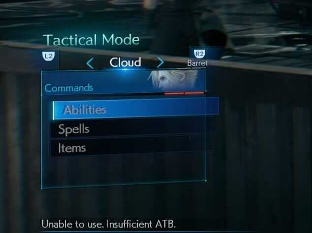 FF7 Demo Issuing Commands