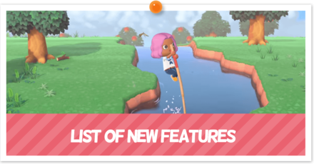 List of New Features