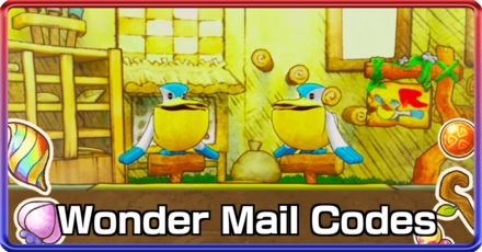 Wonder Mail Codes Top Banner