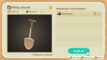 Craft Flimsy Shovel