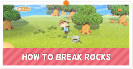 ACNH How to Break Rocks Banner.png