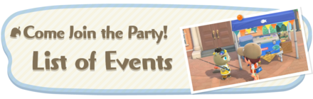 Animal Crossing New Horizons (ACNH) Events