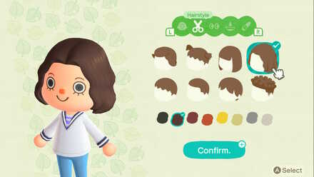 ACNH - Unlocking more Hairstyles and Hair Colors