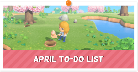 April To-Do and Events Banner