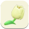 White Tulip Icon