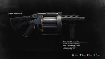 Mgl Grenade Launcher How To Get And Custom Parts Resident Evil