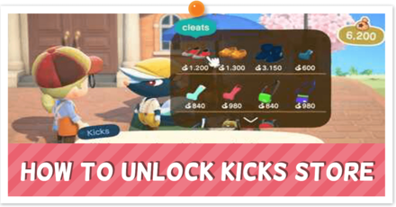 How to Unlock Kicks Store