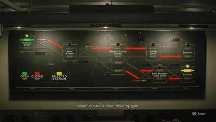 Train Route Board