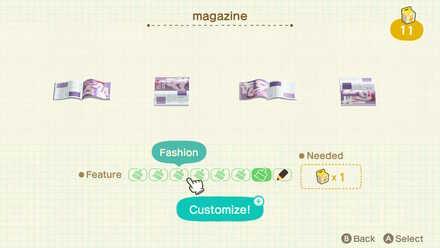Customizing magazine
