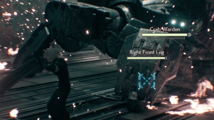 Destroy the Crab Wardens Legs